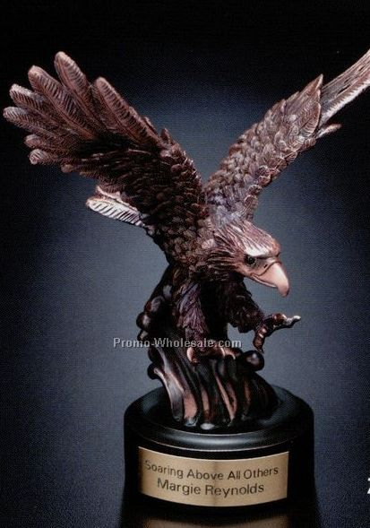 Bronze Plated Landing Eagle 7""