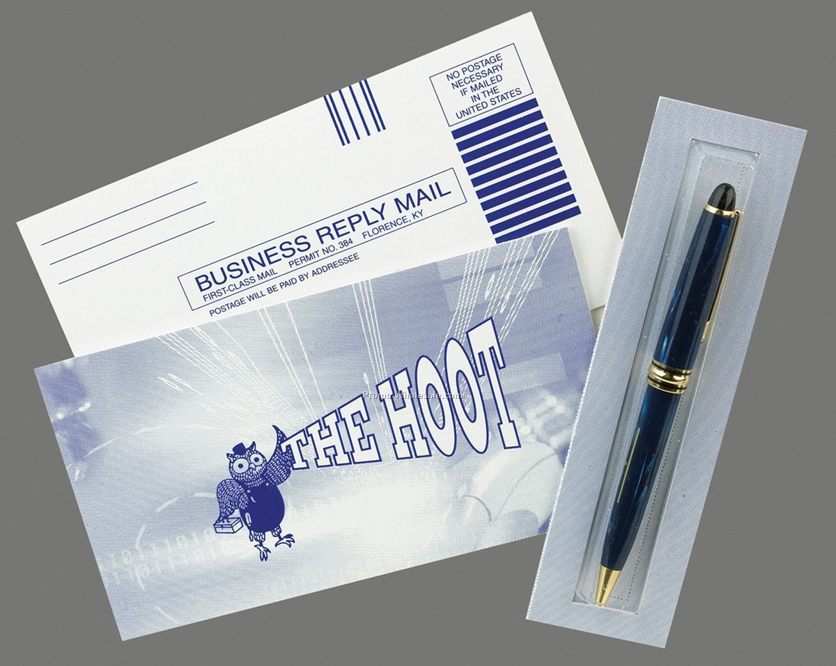 "Bubblegram With Side Tray And Reply Card 6-1/2""x5-1/4"" (1 Color/ 2 Sides)"