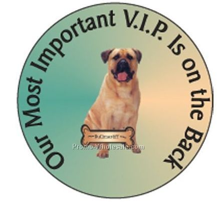 "Bullmastiff Dog Round Hand Mirror W/ Full Mirror Back (2-1/2"")"