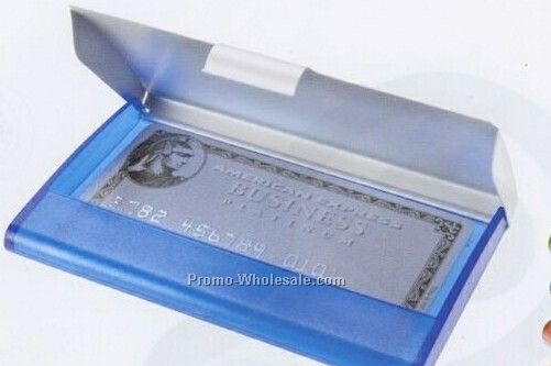 Business Card Holder W/ Aluminum Cover