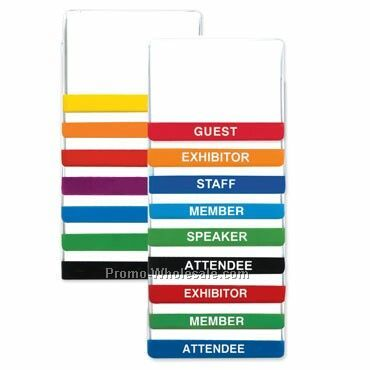 Color Bar & Title Bar Vinyl Nametag Holders Combo Attachment