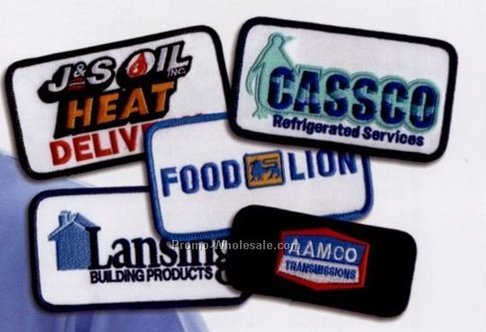 "Custom 2-1/2"" Embroidered Logo Emblem With 75% Coverage"