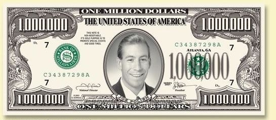 Custom Front Million Dollar Bill