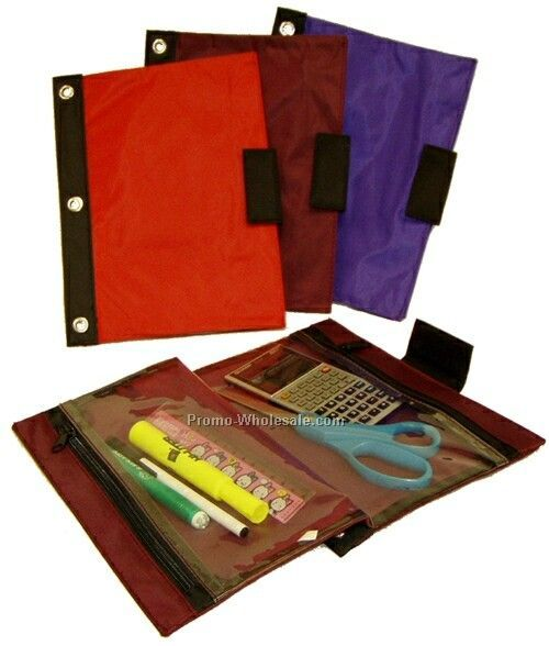 Folding 3 Ring Binder Pouch - 70d
