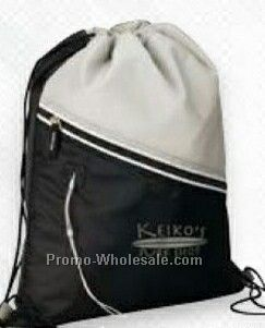 "Giftcor Mazzo Gray Drawstring Cooler Bag 13""x16-1/4"""