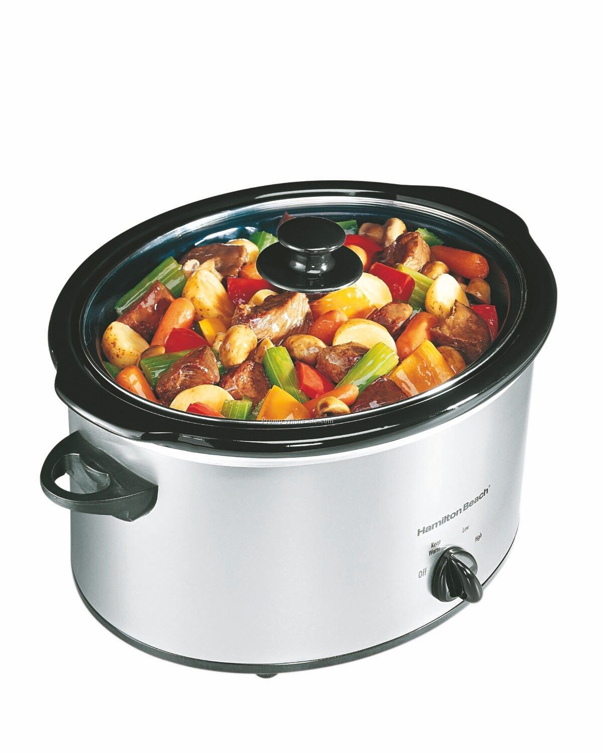 Hamilton Beach Classic Chrome 5 Quart Slow Cooker