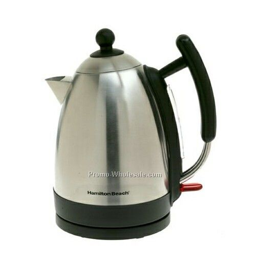 Hamilton Beach Kettle 1.7l Stainless Steel Concealed Element, Cord Free