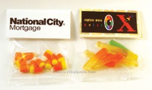 Header Card Packs Clear Cello Bag W/ 1/2 Oz. Red Hots