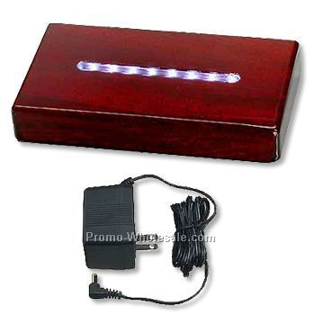 Large Rectangular Piano Finish LED Lighted Base