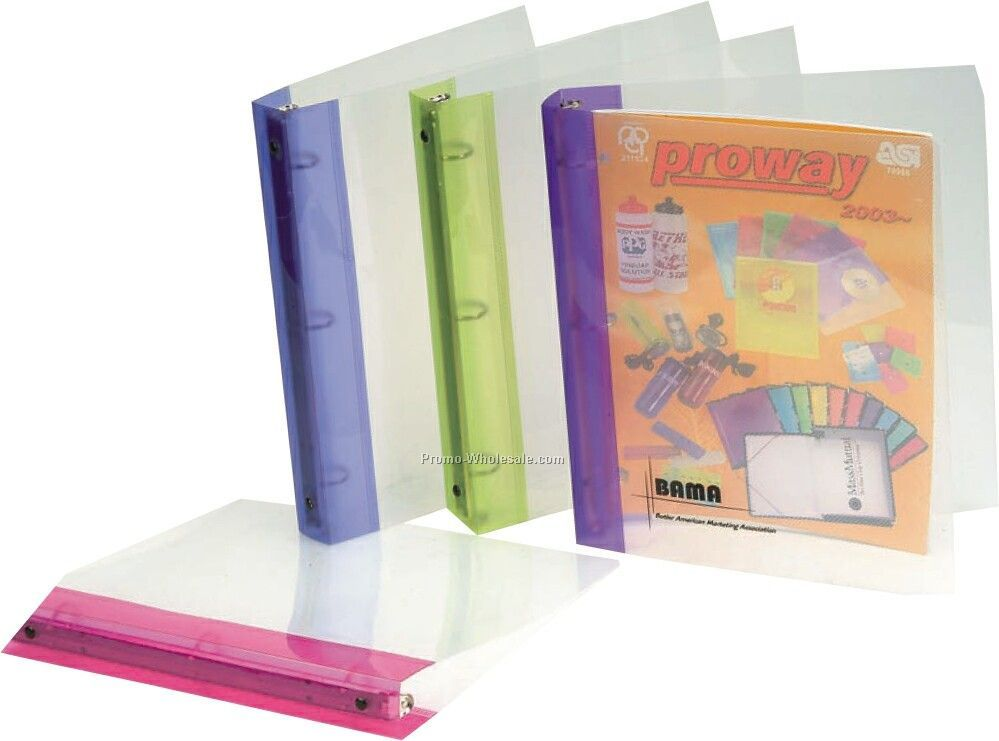 Letter Size Translucent 3 Ring Binder - Two Tone
