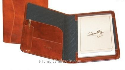 Mahogany Italian Leather Junior Padfolio