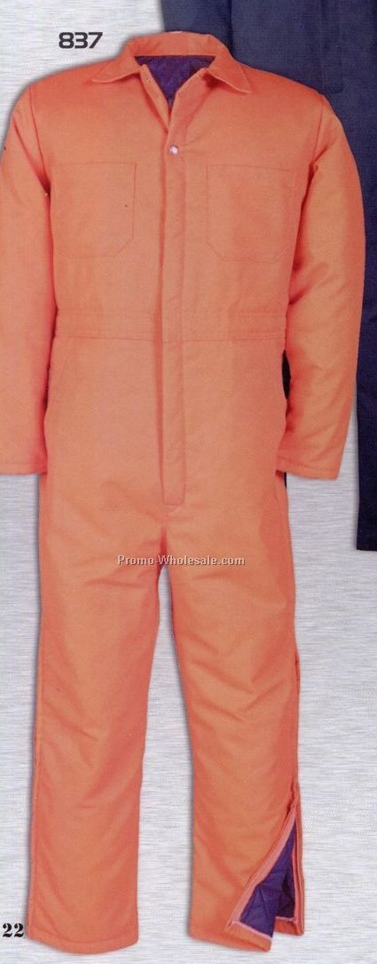 Mid Weight Twill Insulated Coverall With Half Leg Zipper (2xl-5xl)
