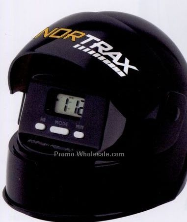 Minya Black Helmet Talking Alarm Clock