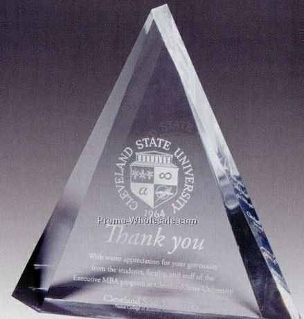 "Multi-faceted Acrylic Triangle Peak Awards 8""x8""x2"" (Laser Engraved)"