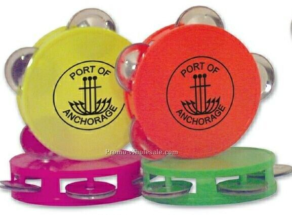 Neon Mini Tambourines In Assorted Colors