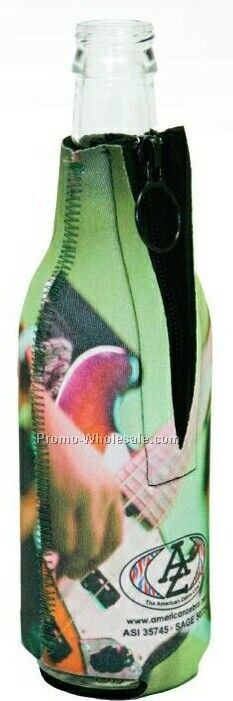 Neoprene Zipper Bottle Holder - Golf