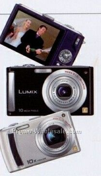 Panasonic Blue Lumix 9.1 Megapixel Compact Digital Camera W/ 10x Zoom