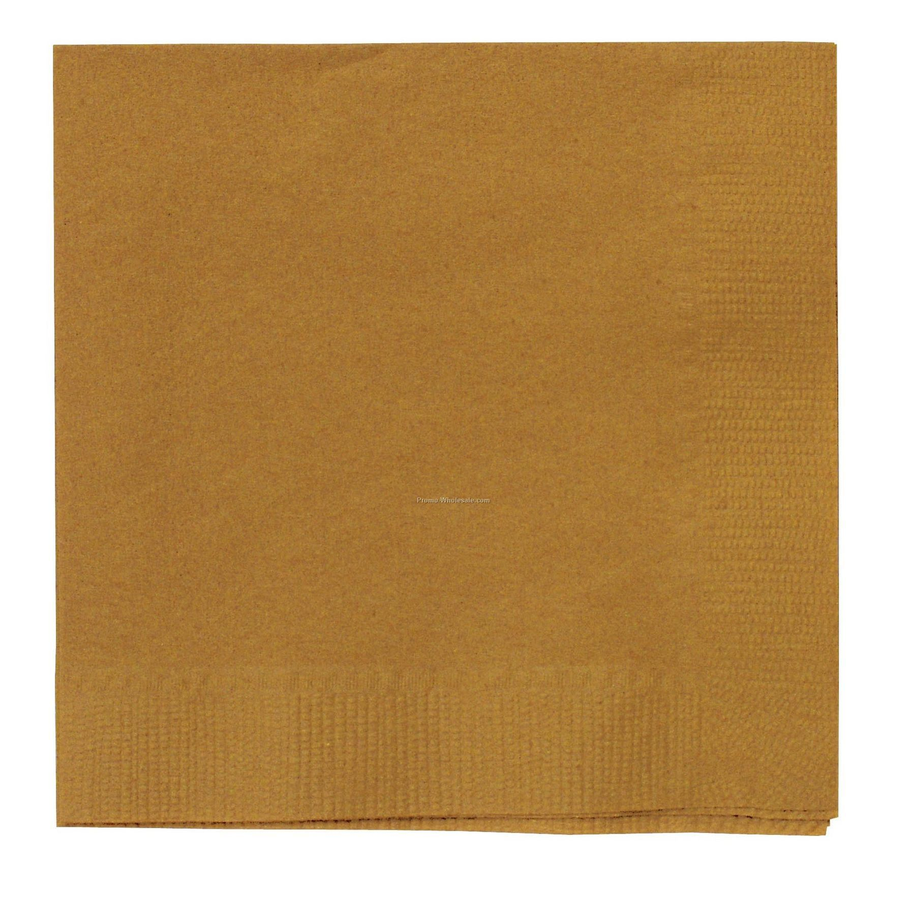 The 500 Line Colorware Old Gold/ Glittering Gold Dinner Napkins W/ 1/4 Fold
