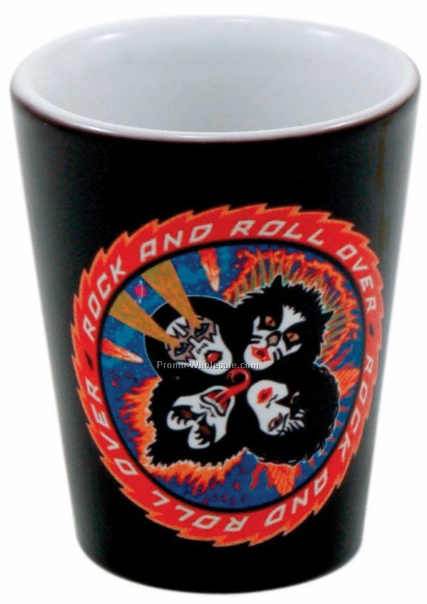 1-1/2 Oz. Collector Cup/ Ceramic Shot Full Color (2 Day Rush)
