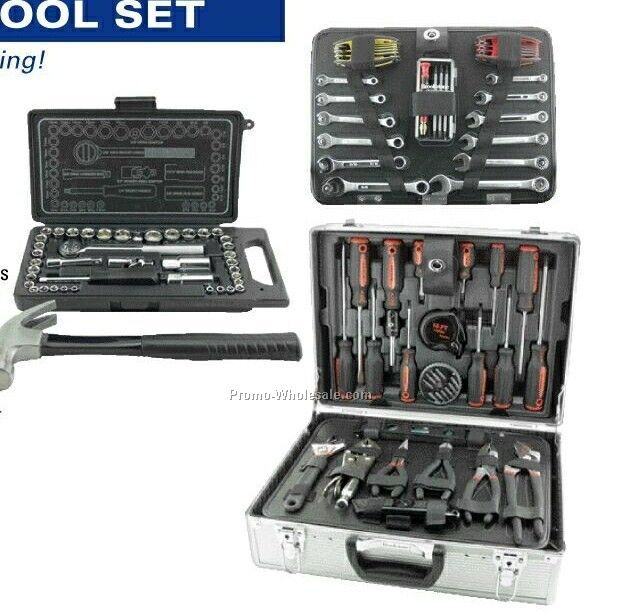 108-piece Comprehensive Tool Set In Aluminum Case With Dividers