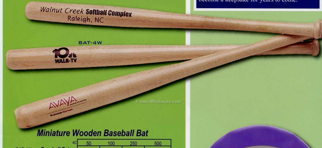 "18"" Wood Baseball Bat"