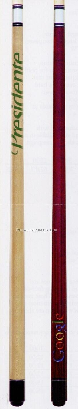 2-piece Classic Pool Cue Stick W/ Out Wrap