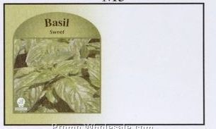 "4""x6-1/2"" Sweet Basil Self Mailer Seed Envelopes (Imprinted)"