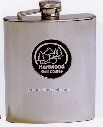 7 Oz. Mirror Finish Flask With Funnel & Gift Box