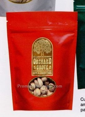 7 Oz. Roasted & Salted Giant Cashews In Stand Up Pouch Bag W/ Clear Window