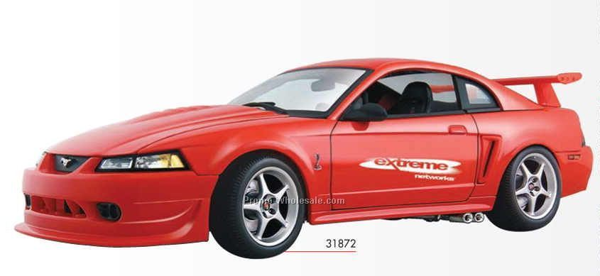 "9"" Red 2000 Ford Mustang Cobra R Convertible Die Cast Replica Vehicle"