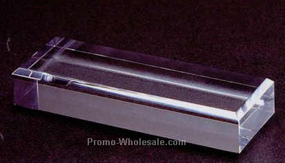"Acrylic Specialty Base (Beveled) 1""x4""x4"""
