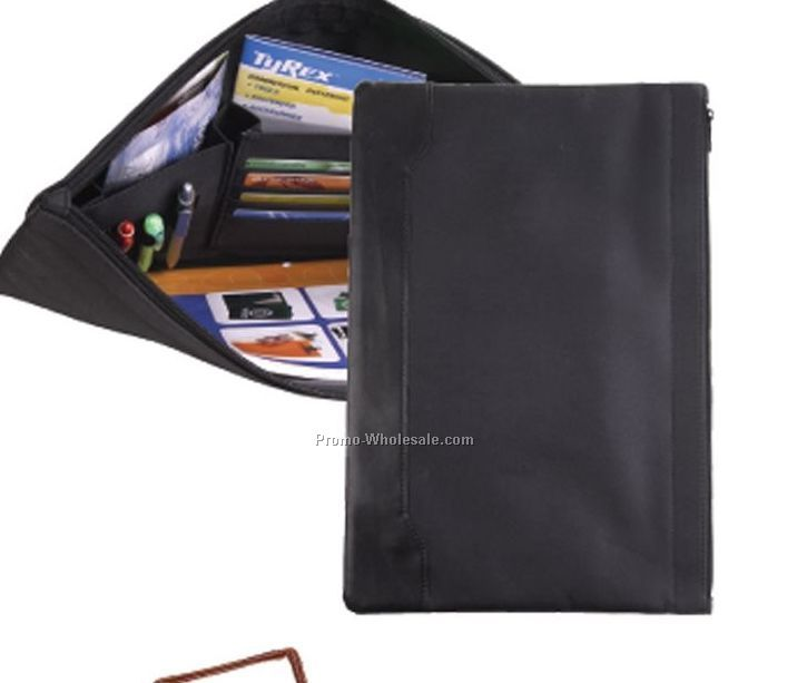 Black Document Holder W/ Zipper Closure