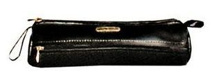 Black Veg Tanned Calf Leather Pencil Case
