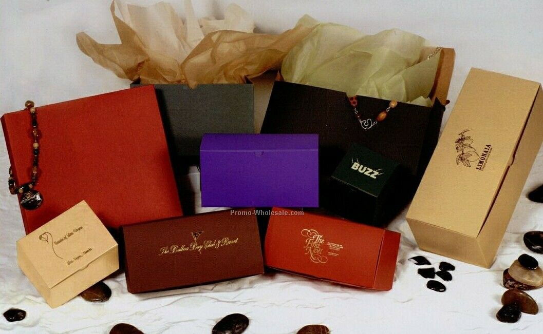 Deep Purple Tinted Kraft Gift Boxes