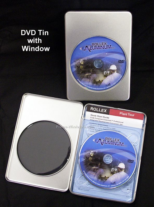 Deluxe DVD Tin With Or Without Window