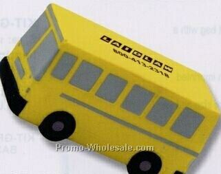 Flat Front School Bus Squeeze Toy