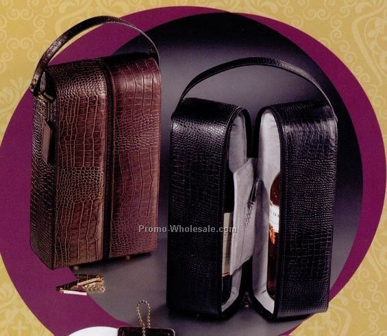 Genuine Leather Double Wine Holder