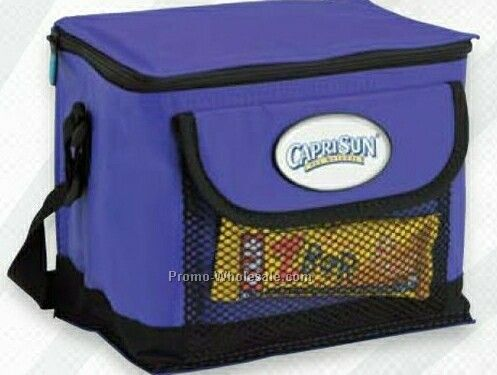 "Giftcor Royal Blue I-cool Deluxe 6 Can Cooler Bag 7""x9""x6"""