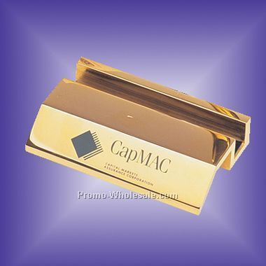 Gold Plated Name Card Holder - Screen Print