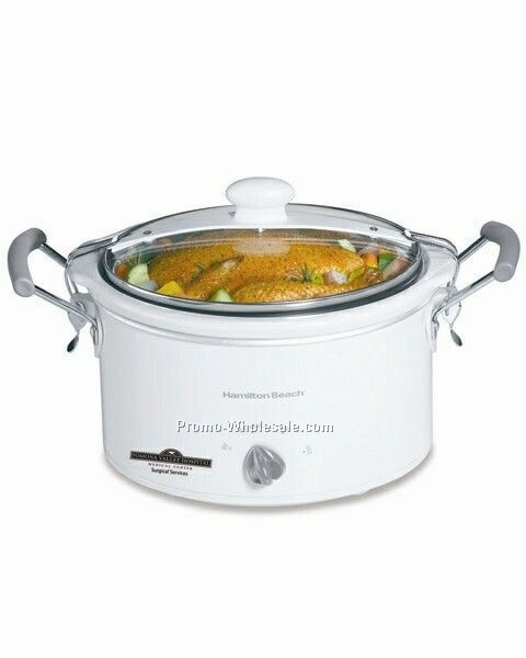 Hamilton Beach 4 Qt Stay Or Go (Tm) - Oval, Slow Cooker