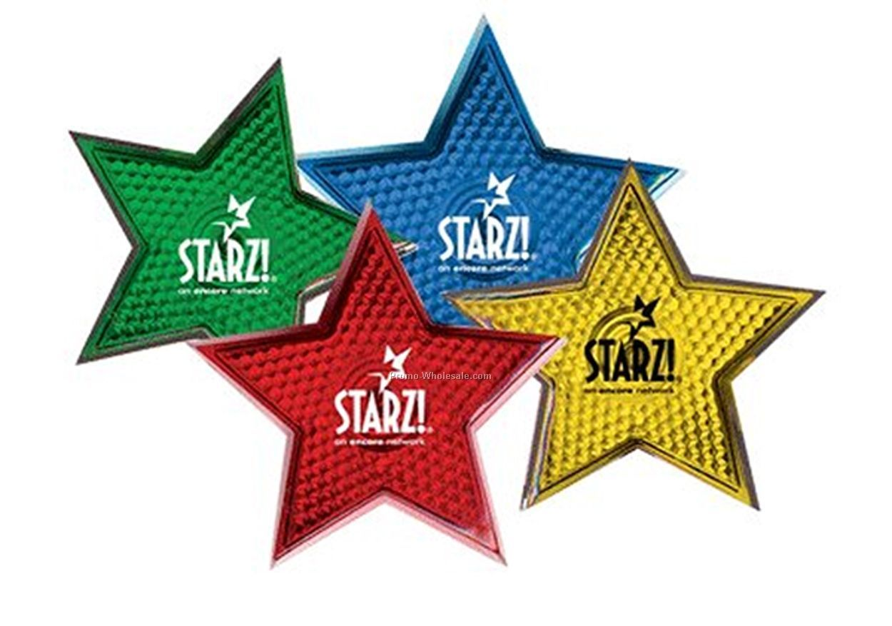Light Up Badge - Star (Red W/ Red Led)