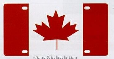 Line Up License Plate (Canadian Flag)