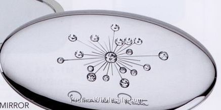 Minya Oval Jewelry Compact Mirror