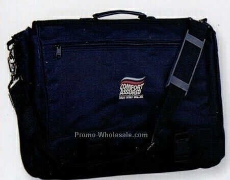 "Polyester Briefcase W/ 6"" Expansion (Embroidered)"