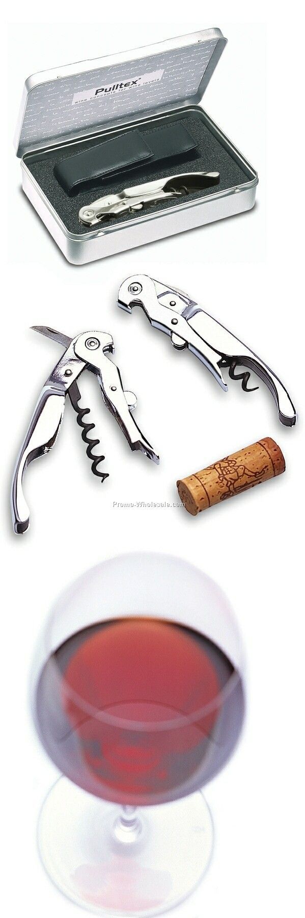 Pulltex Pullparrot Corkscrew With Leather Case