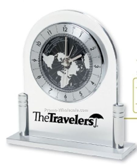 Recognition Clocks - Majella World Time Desk Clock (5-7 Days Service)