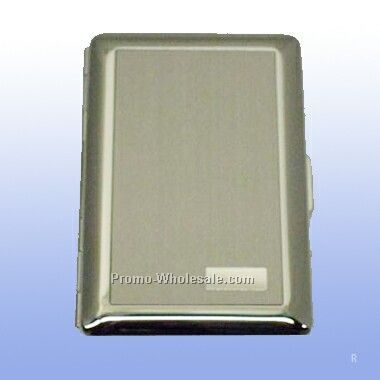Satin With Initial Panel Deluxe Credit Card Case (Engraved)