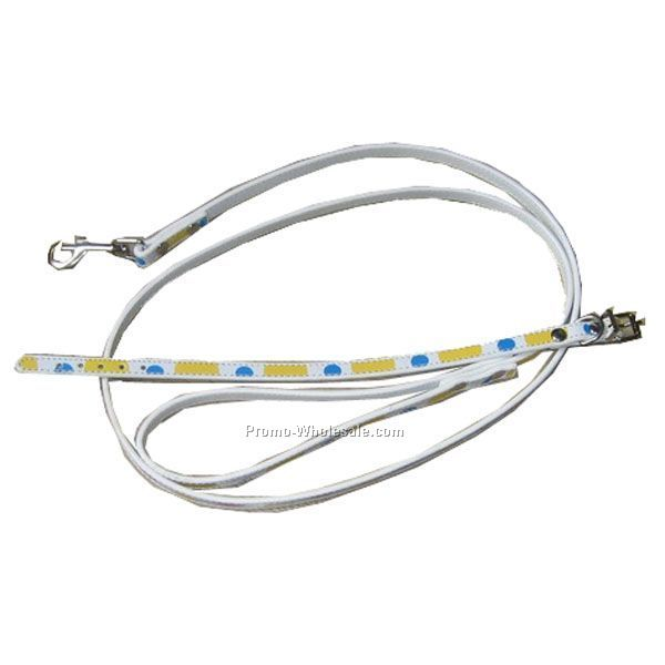 Striped And Dot Leash & Collar Set - New