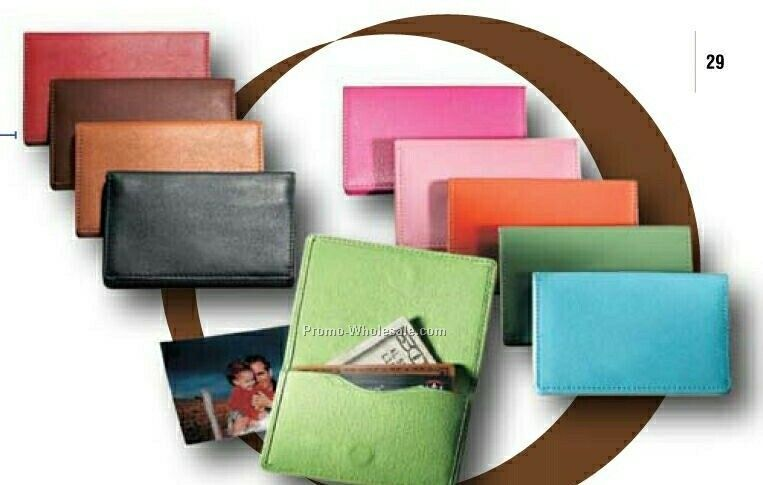 Synthetic Leather Magnetic Business/ Credit Card Holder
