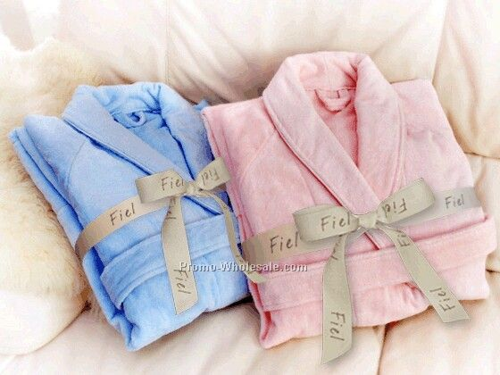 The Heavenly Plush Color Velour Bathrobe (Embroidered)